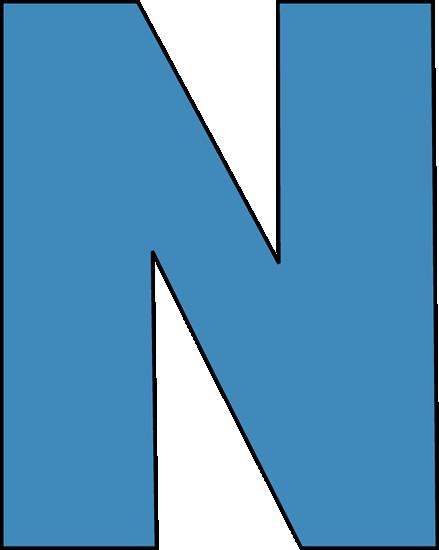 439x550 Blue Letter N