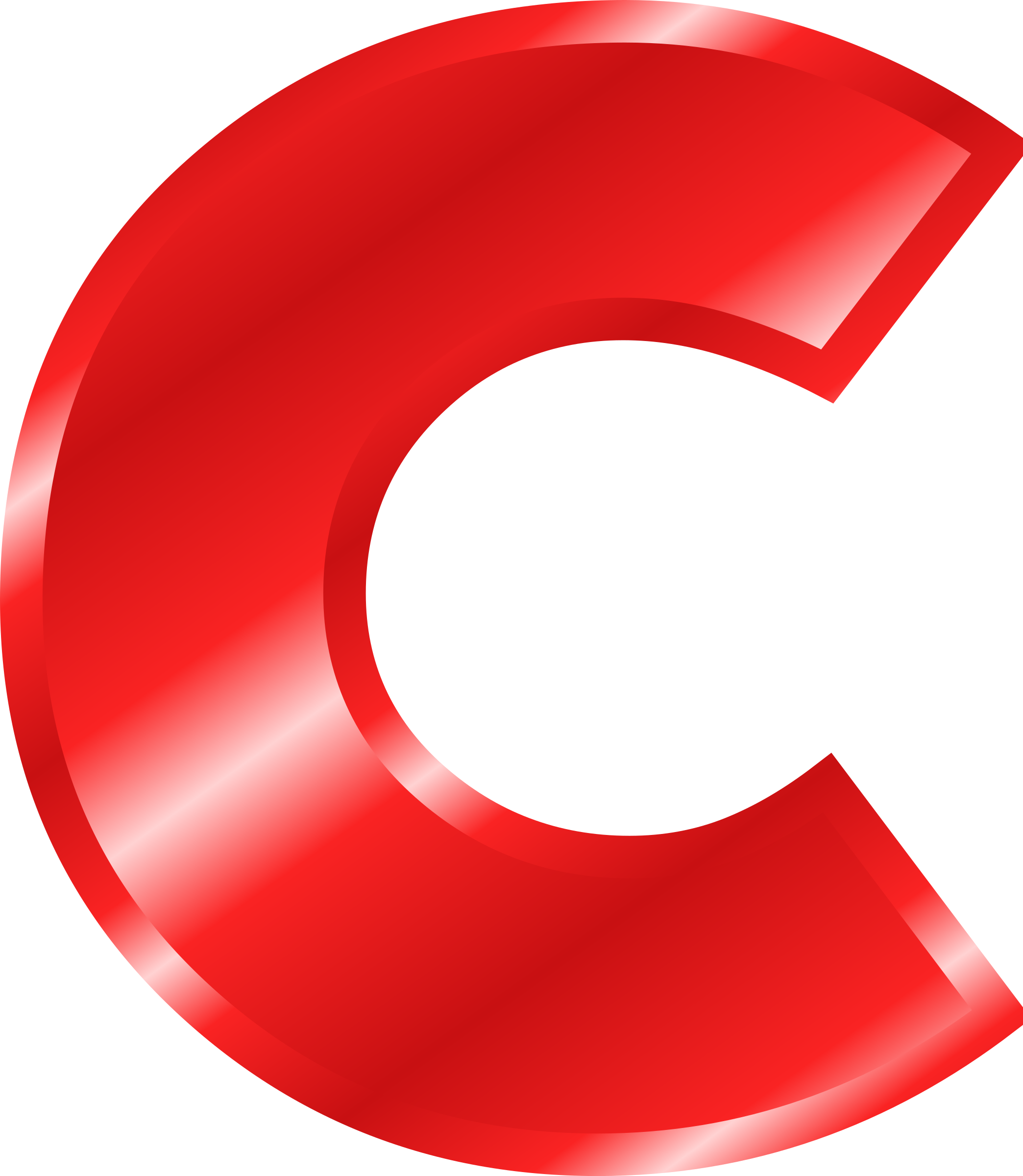 2088x2400 C Clipart Red Letter