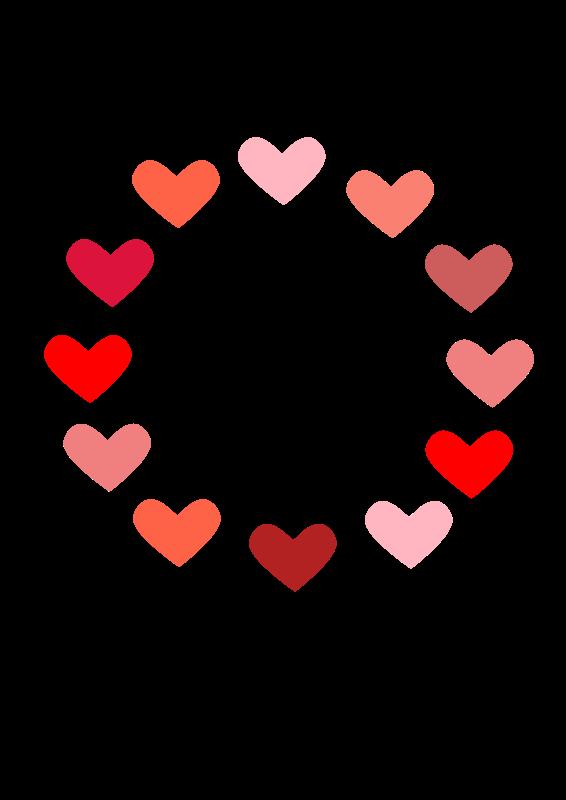 566x800 Heart Clipart
