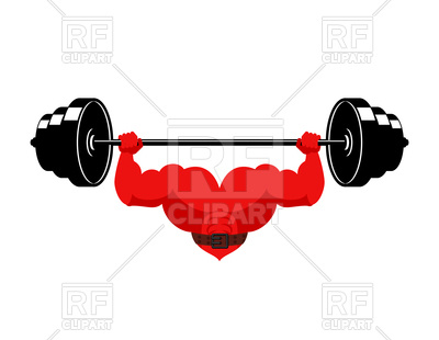400x310 Strong Heart With Barbell