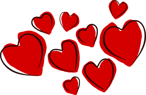 594x386 Love Heart Clipart Sketchy Hearts Clip Art