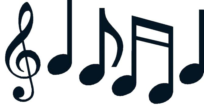 670x349 Music Note Outline Clip Art Preview A Cartoon Black And White
