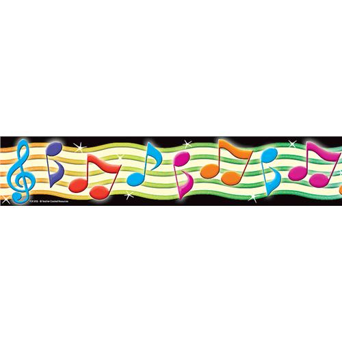 500x500 Musical Borders Colorful Music Note Border Free Clipart Images 3