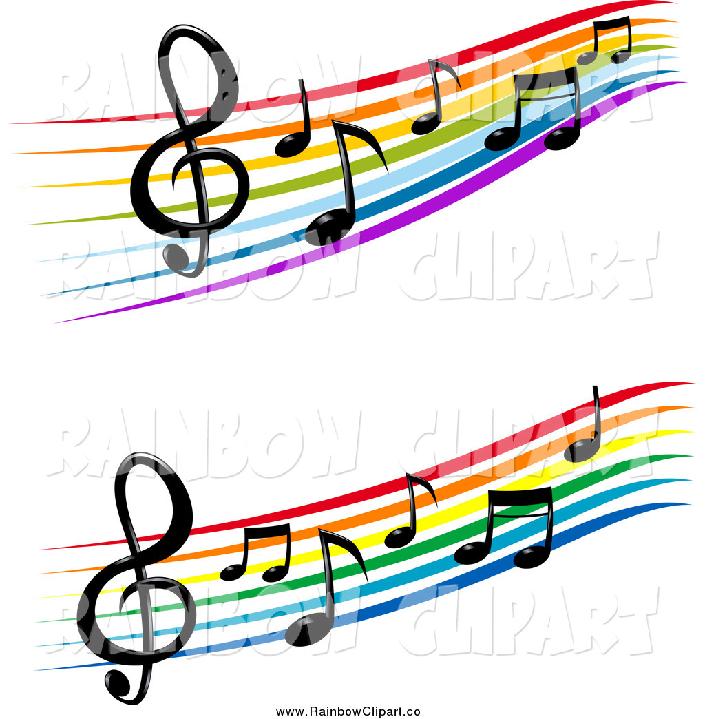 1024x1044 Vector Clip Art Of Colorful Staffs And Music Notes By Vector