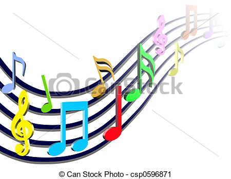 450x350 Colorful Music Notes Clipart