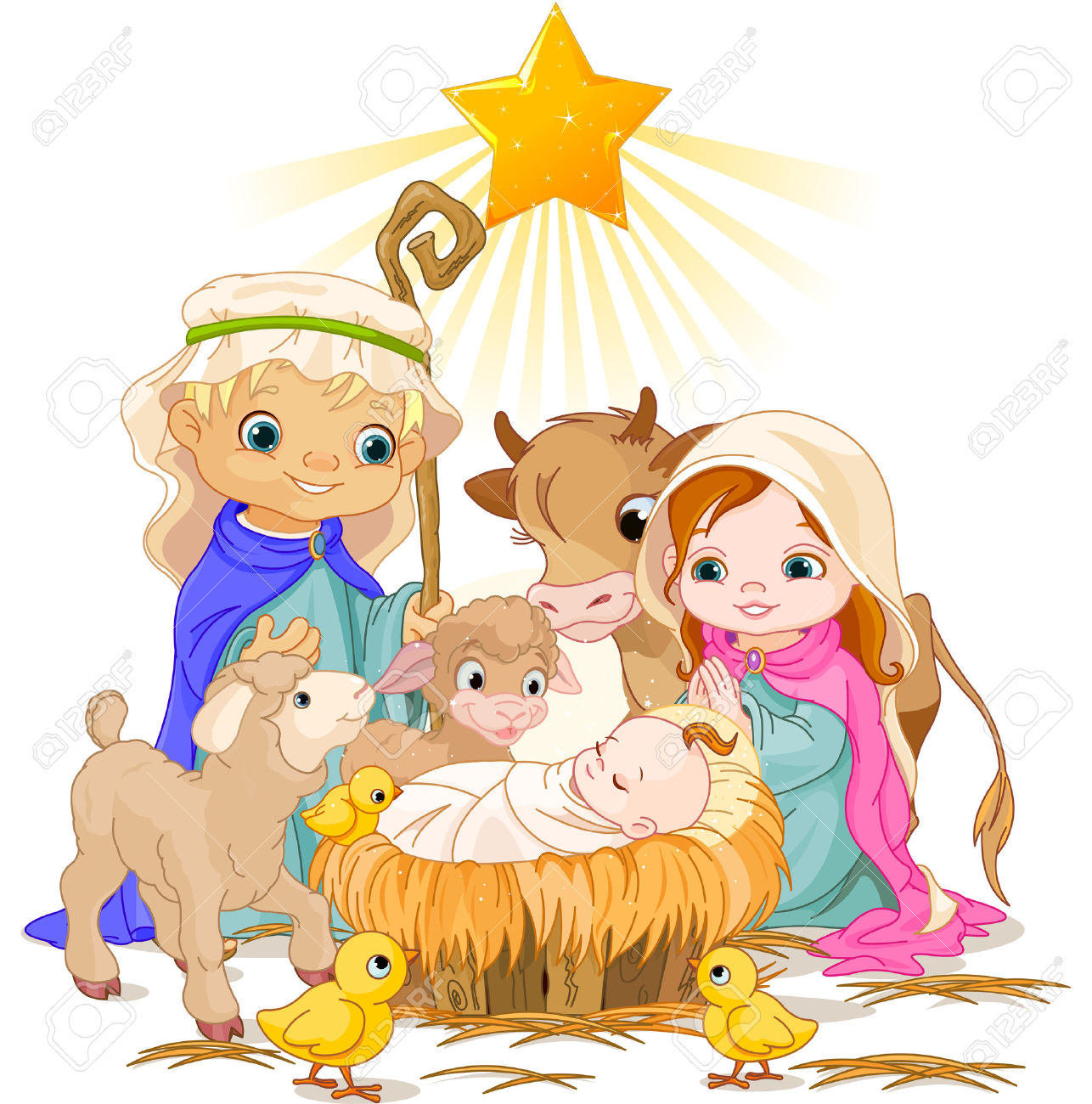 1286x1300 Collection Of Christmas Nativity Scene Clipart Free High
