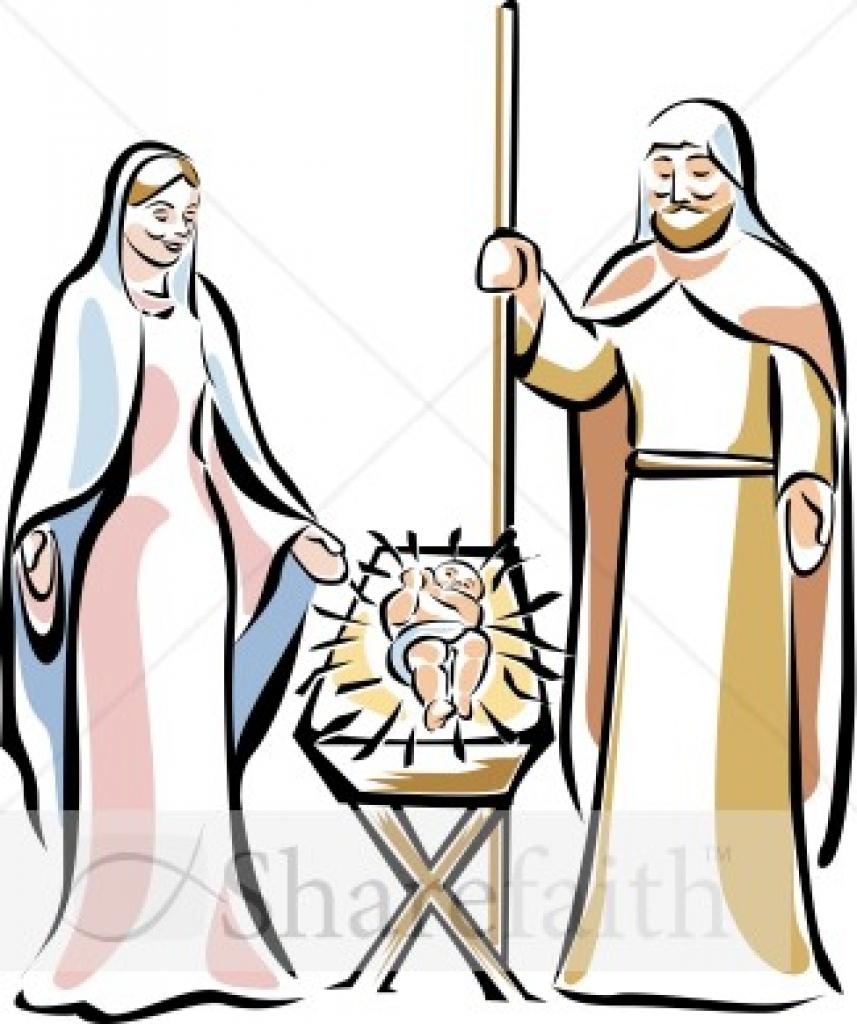 857x1024 Holy Family The Manger Manger Clipart10 Png Holy Family Clip Art