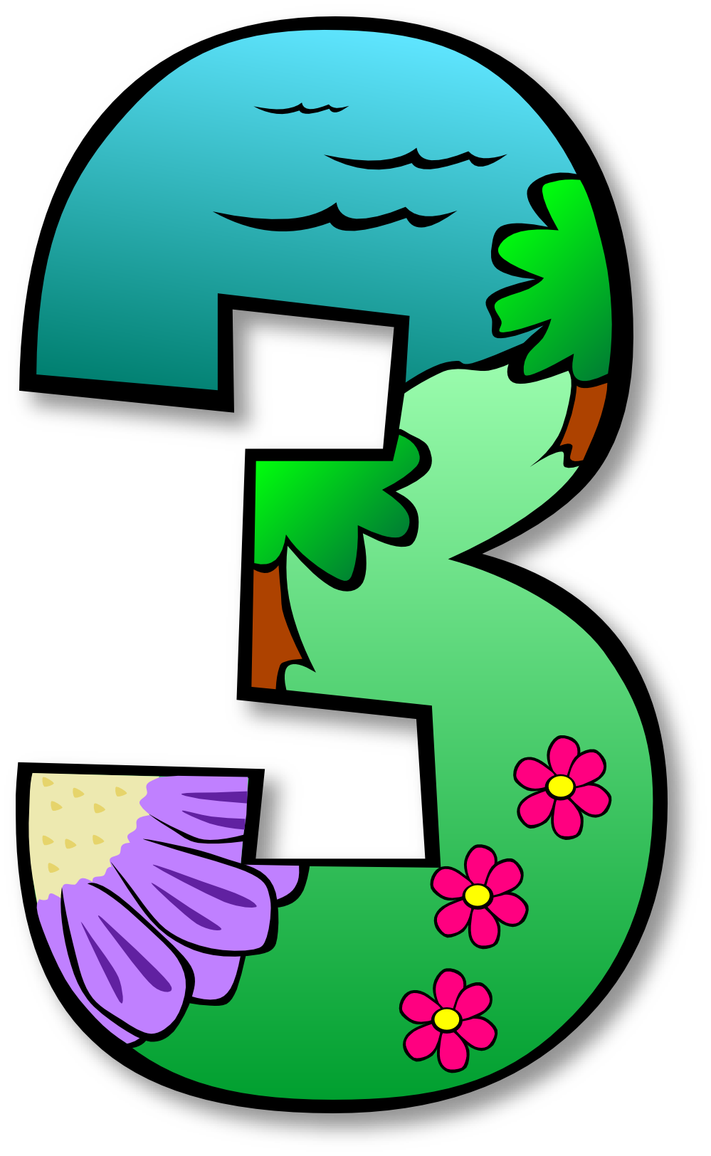 999x1624 Clip Art Numbers 1 2 Clipart