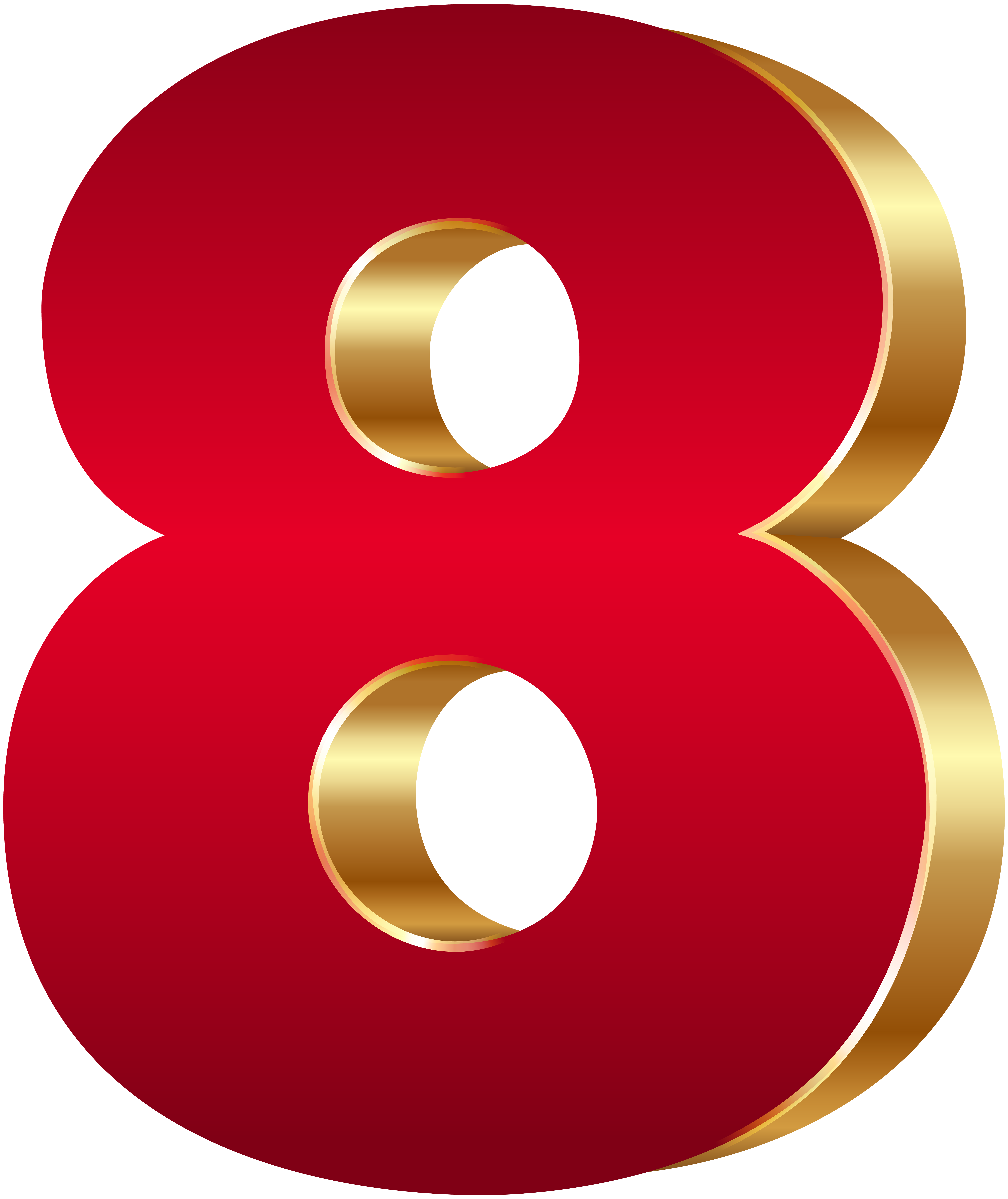 6725x8000 3d Number Eight Red Gold Png Clip Art Imageu200b Gallery