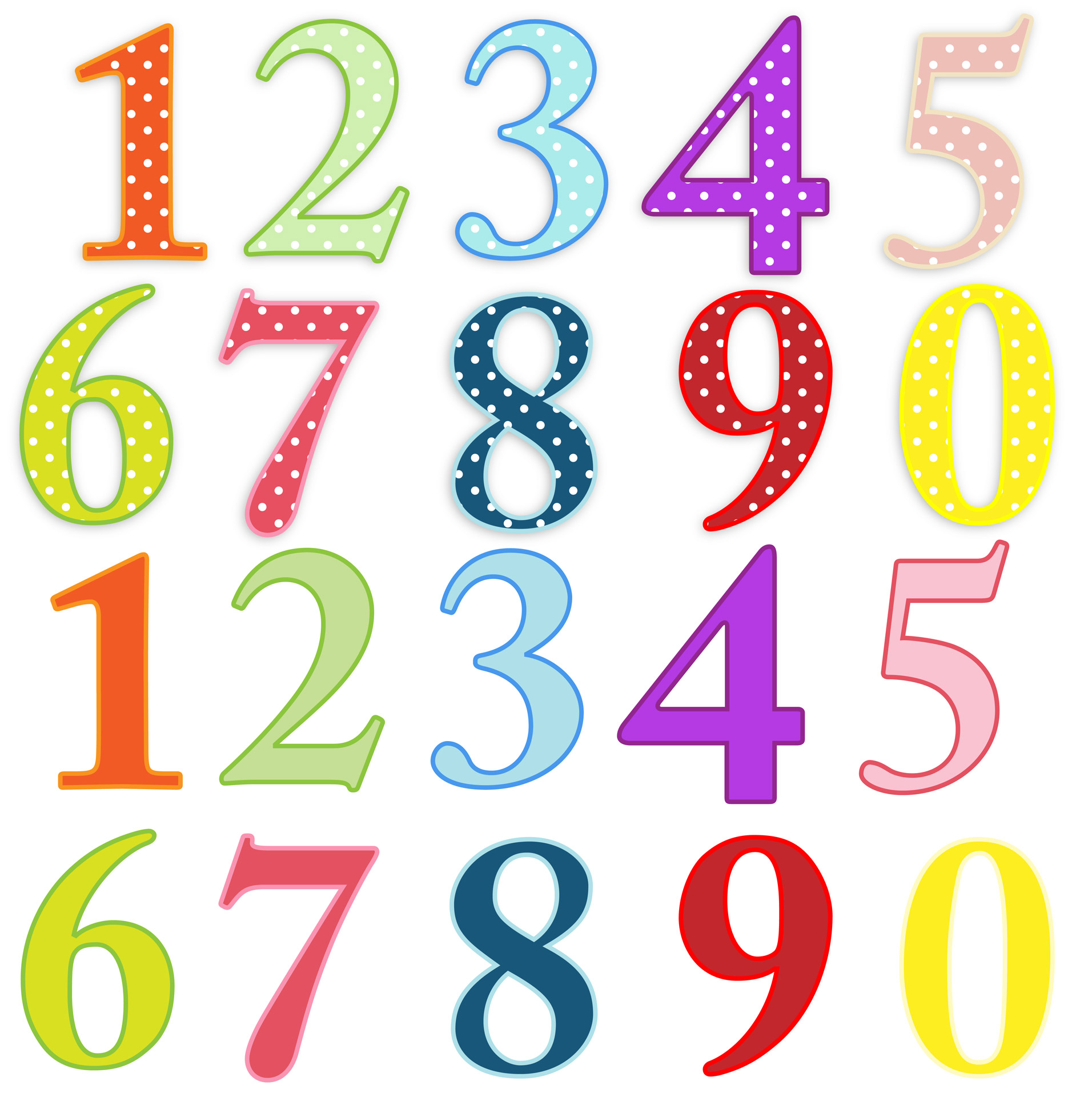 1912x1920 Numbers Colorful Clip Art Free Stock Photo