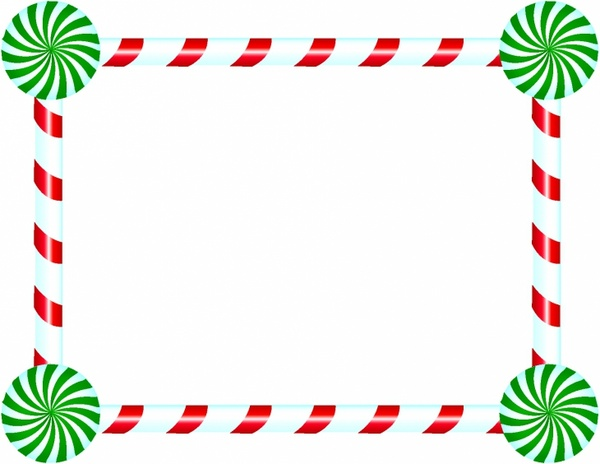 600x464 Free Candy Cane Border Clip Art Candy Cane And Peppermint Frame