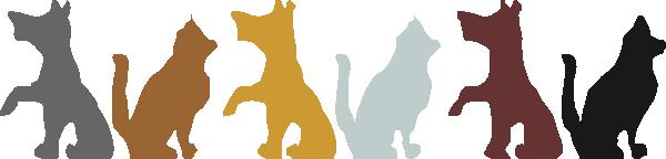 600x144 Dog And Cat Clip Art Clipart Panda