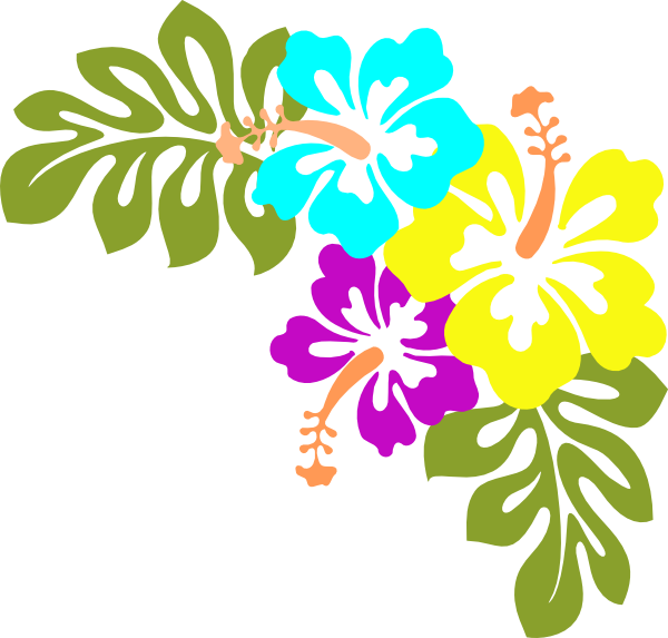 600x573 Hawaiian Flower Clip Art Flowers Clip Art