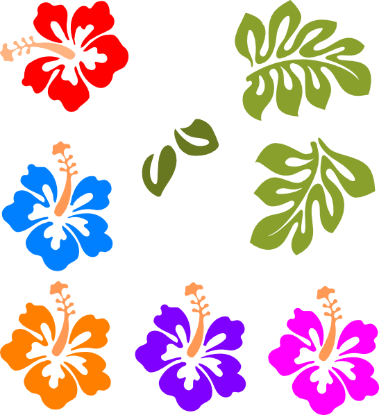 546x598 Hawaiian Flower Clip Art Tropical Mix Clip Art