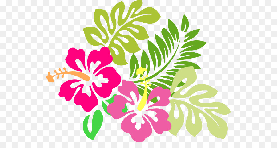 900x480 Hawaiian Flower Clip Art