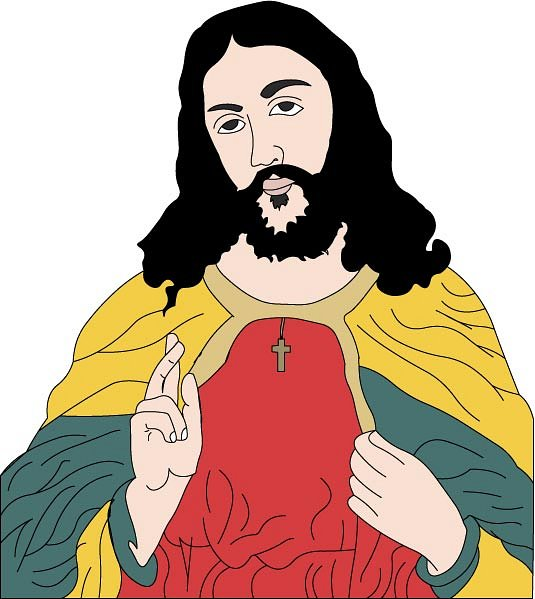 535x599 Jesus Christ Holding A Sheep Clipart Free Clip Art Images Id 34961