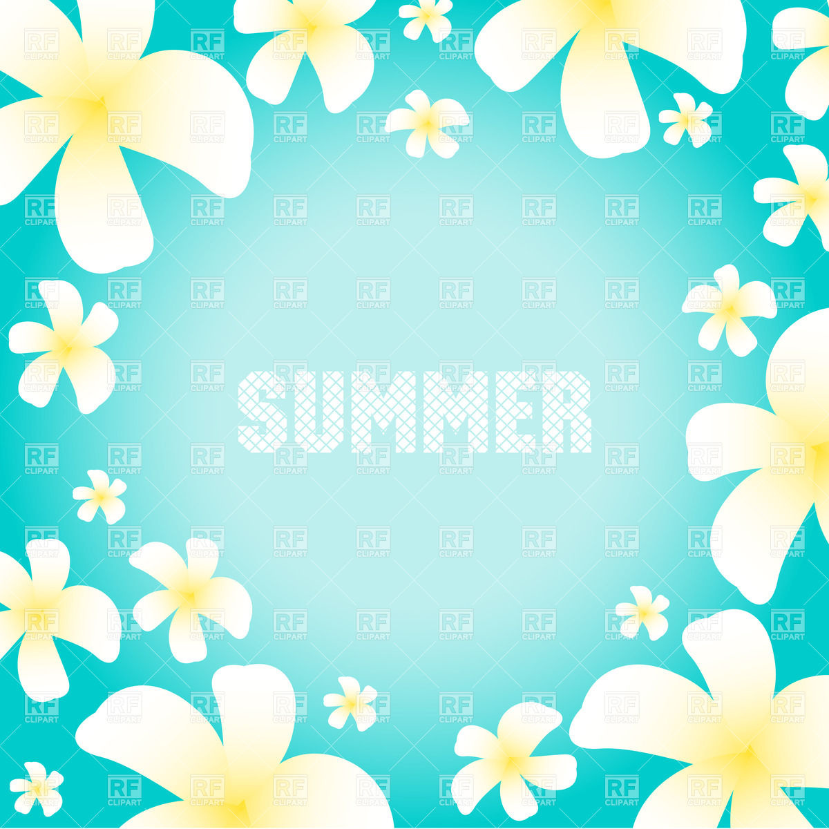 1200x1200 Free Clipart Summer Flowers