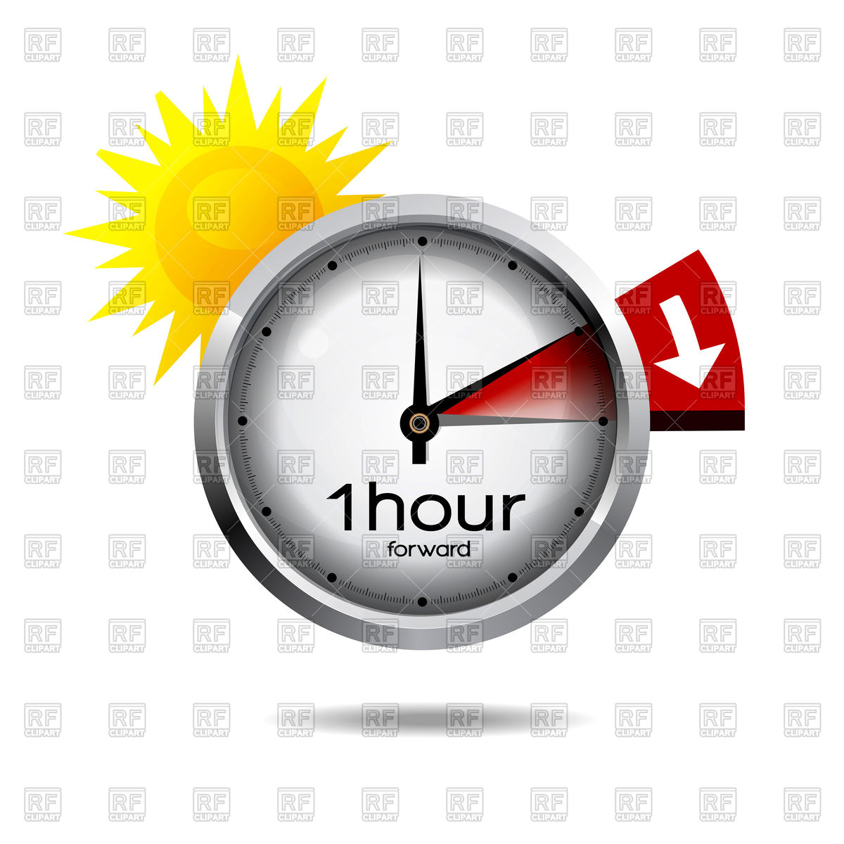 1200x1200 Clock Switch To Summer Time Icon Royalty Free Vector Clip Art