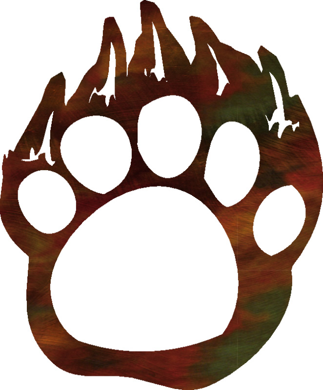 662x800 Bear Paw Clipart Grizzly Bear Paw Print Clipart Clipart Panda Free