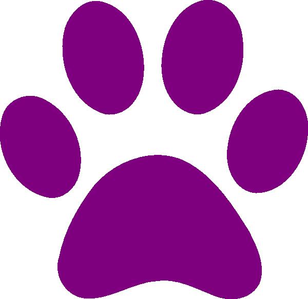 600x583 Purple Clip Art Purple Paw Print Clip Art