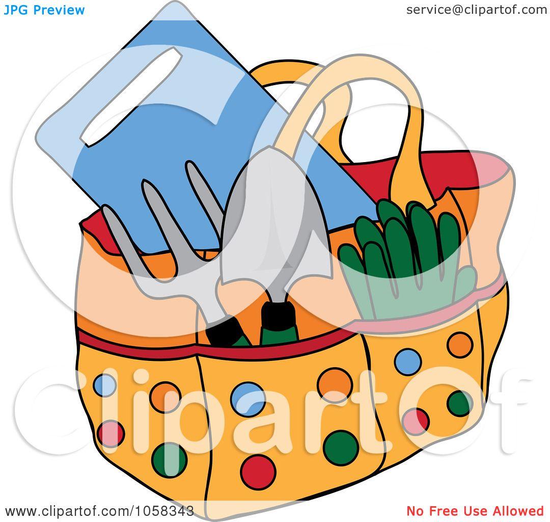 1080x1024 Royalty Free Vector Clip Art Illustration Of A Garden Tote Bag