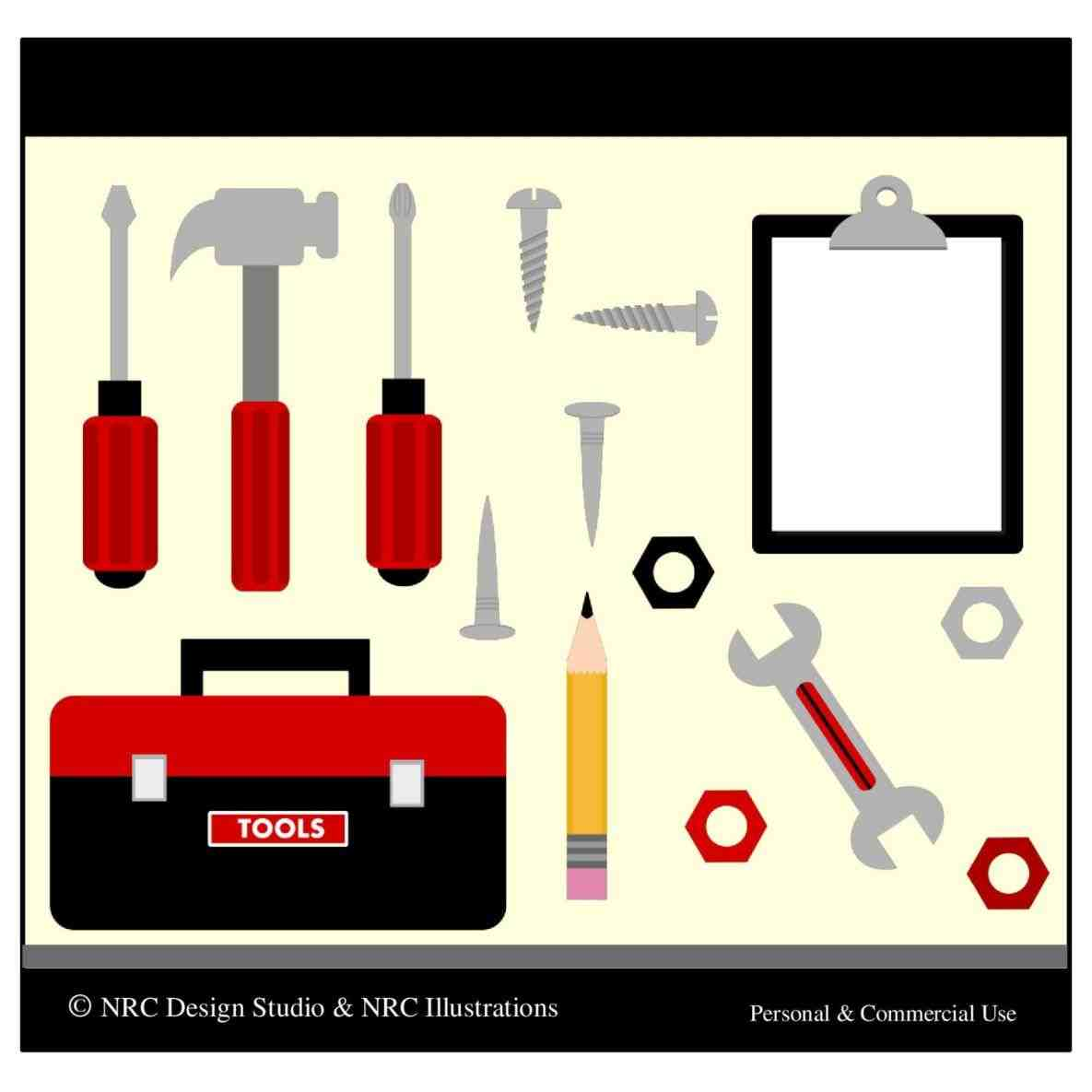 1185x1185 The Images Collection Of Cliparts Writing Toolbox Clipart Tool Kit