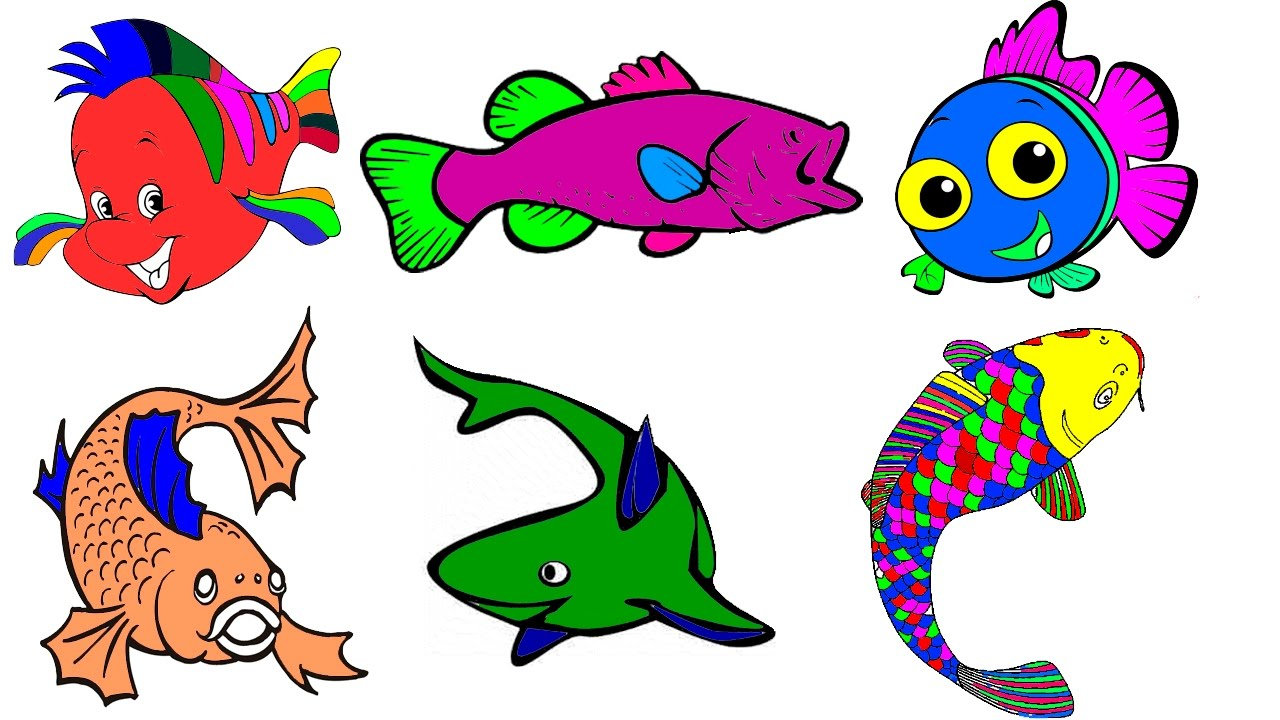 1280x720 Coloring Pages Fish Free Coloring Pages To Color By Hibaby