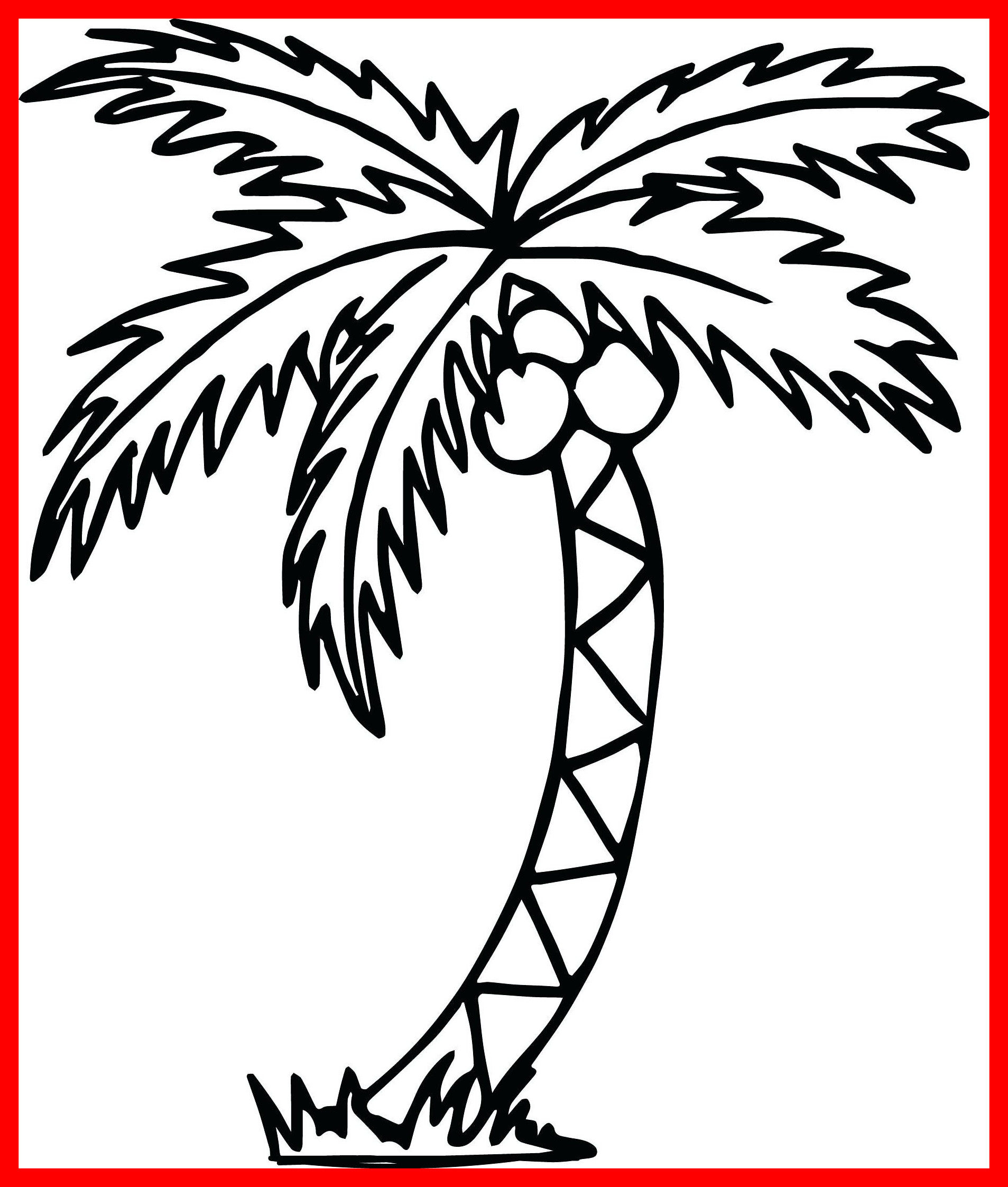 1907x2245 Innovative Palm Tree Coloring Page Color By Number Free Printable