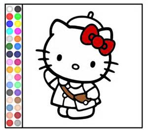 300x263 Hello Kitty Frog Coloring Games Play Hello Kitty Color By Number