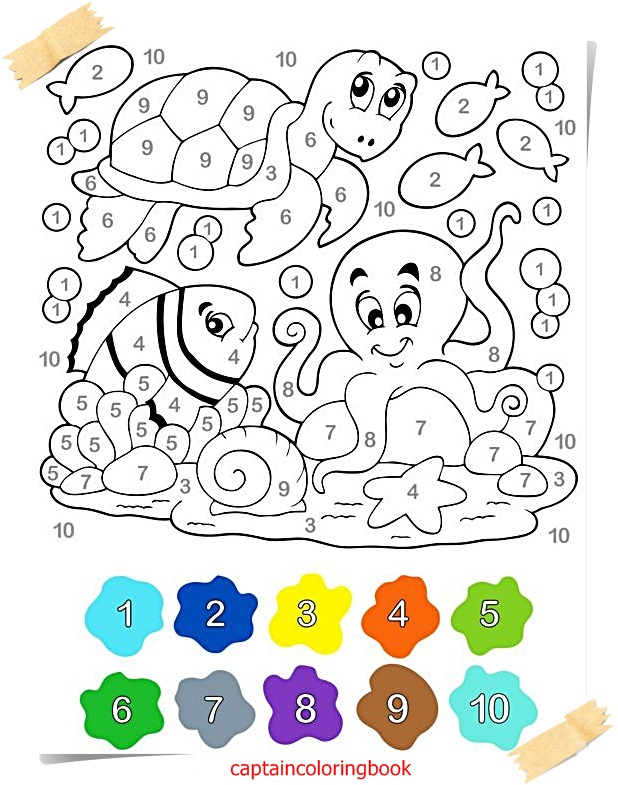 618x785 Color By Number Free Coloring Pages