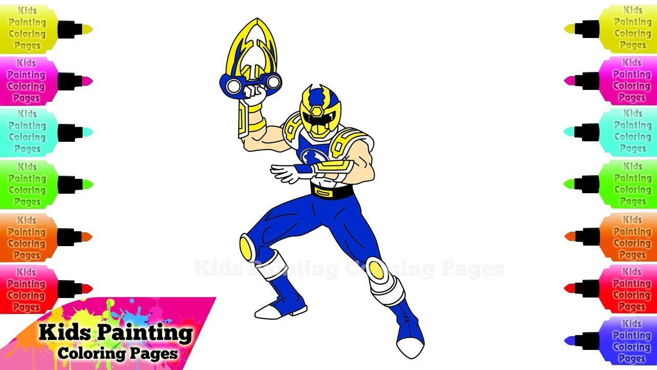 1280x720 Power Rangers Coloring