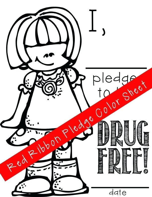 612x792 Red Ribbon Coloring Pages Fun Red Ribbon Week Just Say No