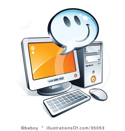 400x420 Happy Computer Clip Art Royalty Free Computer Clipart Illustration