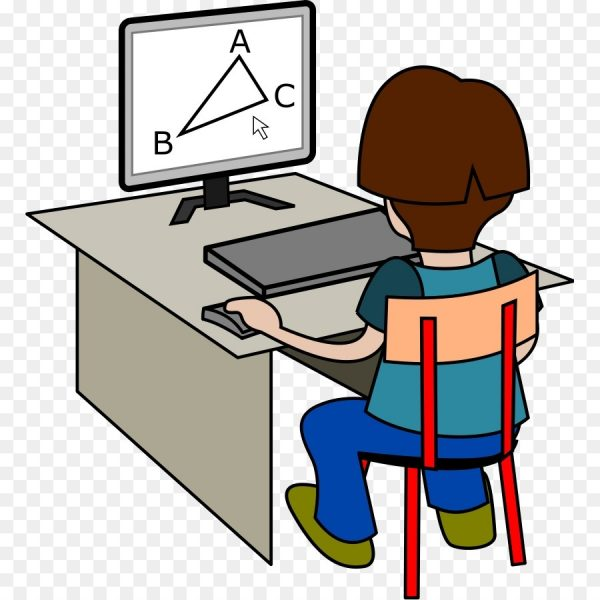 600x600 Computer Free Content Student Clip Art On Line Cliparts Png