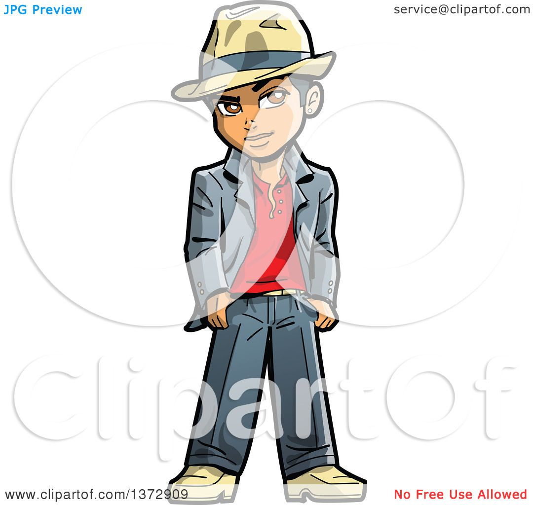 1080x1024 Clipart Of A Cool Young Black Man Wearing A Fedora