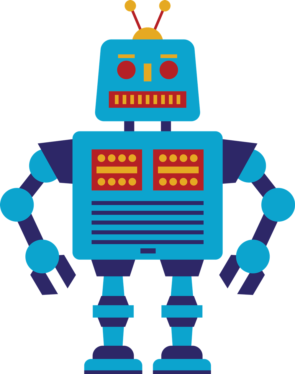 1000x1266 Robot Clipart Free Clipartlook