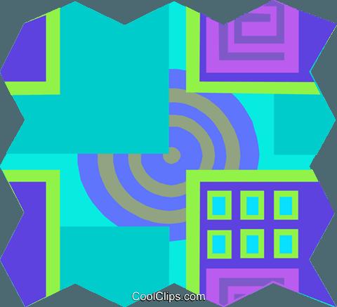 480x437 Cool Wallpaper Pattern Royalty Free Vector Clip Art Illustration