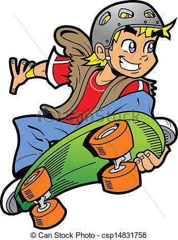 349x470 Skateboard Clipart Boy Doing Skateboard Jump Cool Smiling Young
