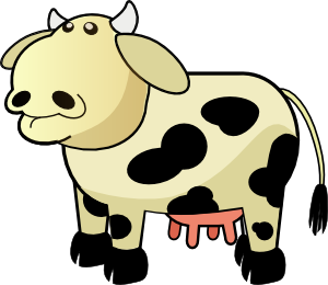 300x260 Colour Cows Clip Art Free Vector 4vector