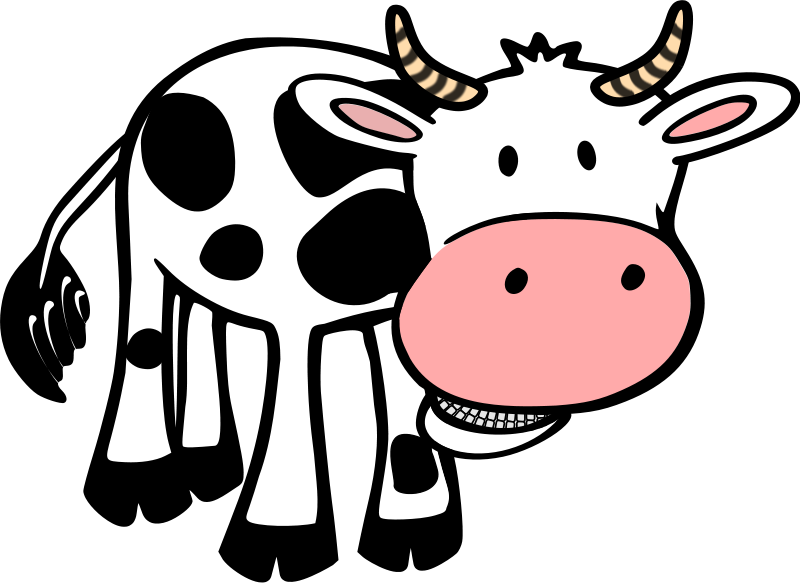 800x583 Cow Clip Art Free Cartoon Clipart Panda