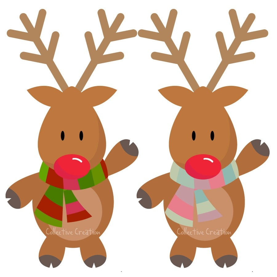 900x900 Cute Reindeer Clip Art Clipart Free Holiday Christmas Magnificent
