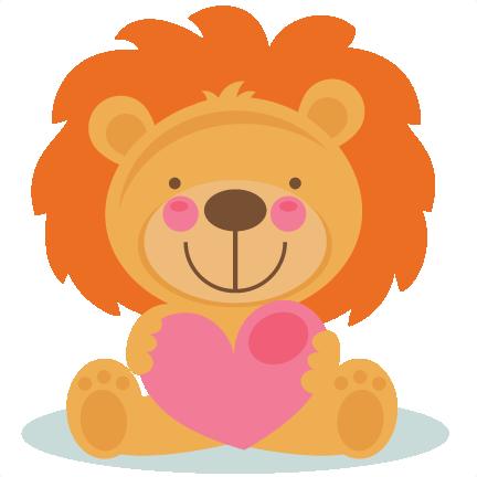 432x432 Daily Freebie 2 4 15 Miss Kate Cuttables Cute Valentine Lion