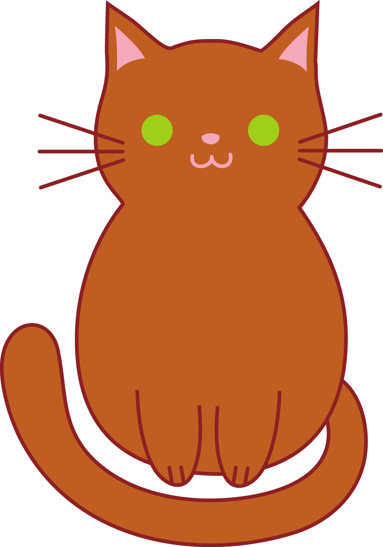 3528x5039 Cute Brown Cat Free Clip Art Exceptional Kitten Clipart