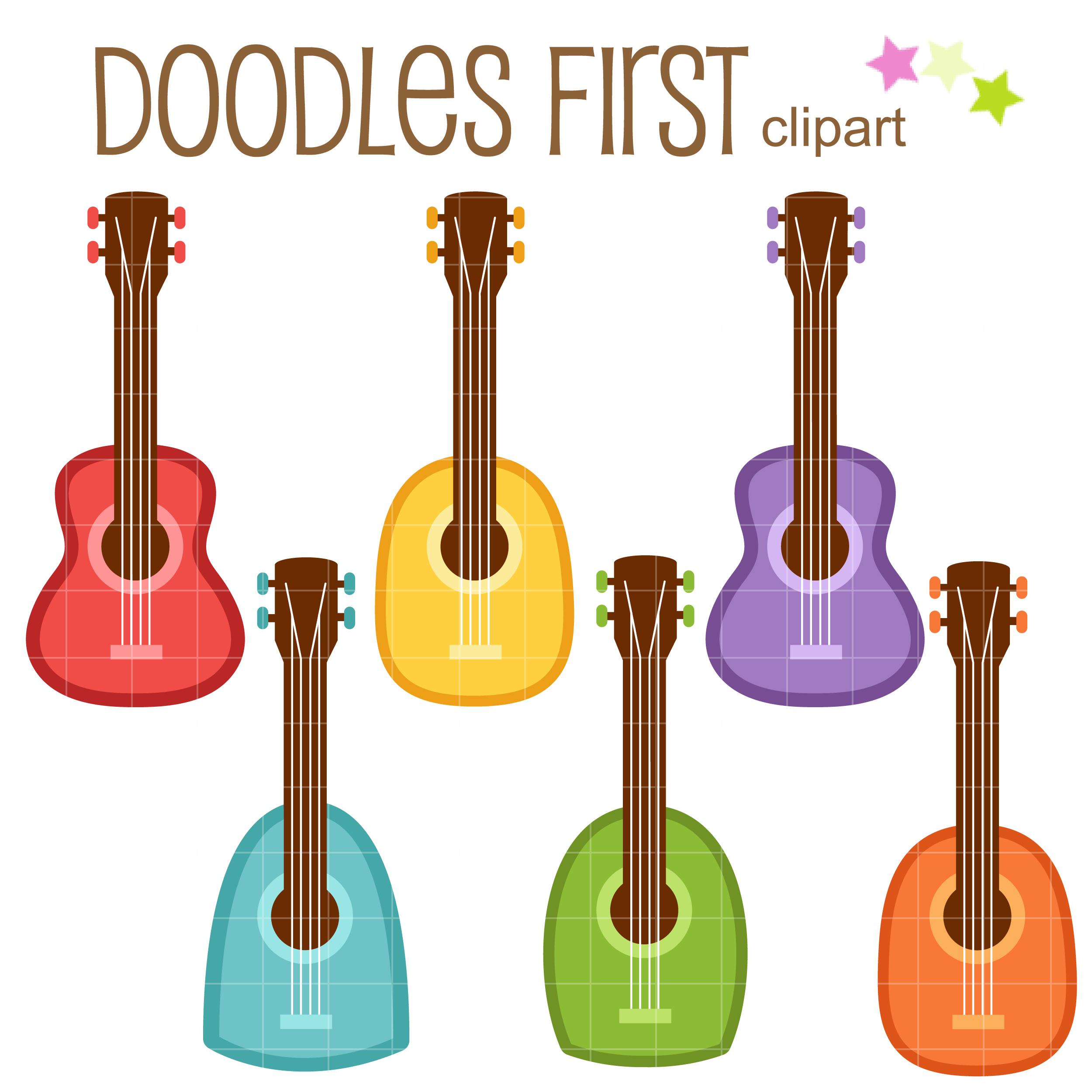 2500x2500 Free Cute Colorful Ukelele Clip Art Set Daily Art Hub Free
