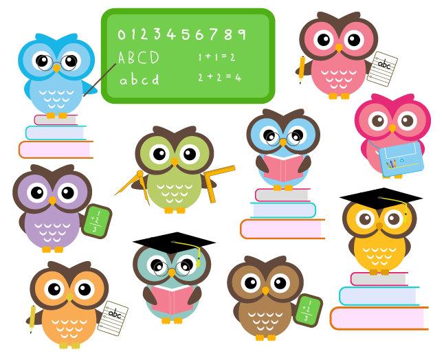 646x521 Free Clipart Cute Owls