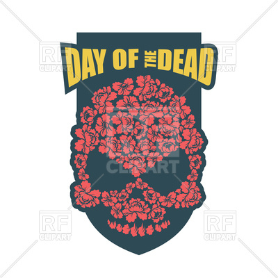 400x400 Day Of Dead. Flower Skull. Mexico Traditional Holiday Religion