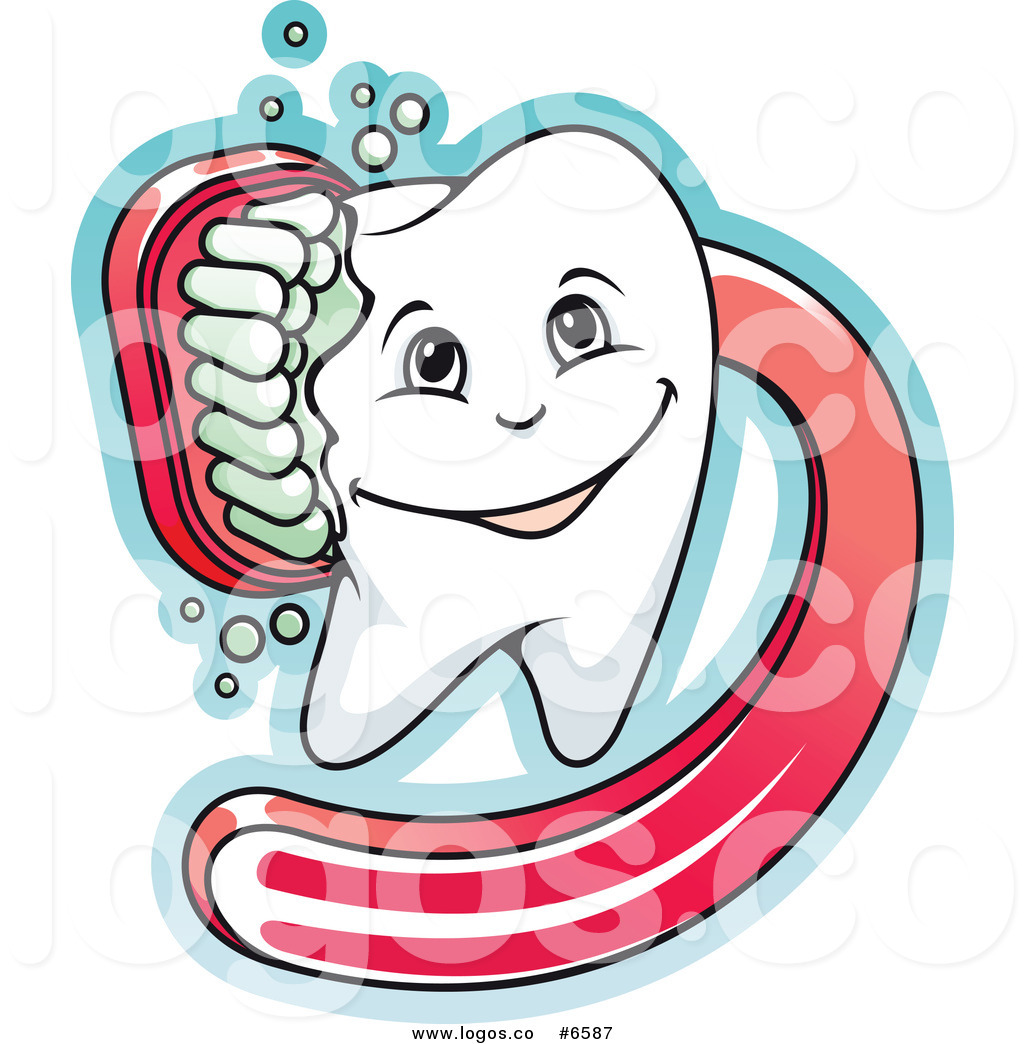 1024x1044 Royalty Free Clip Art Vector Logo Of A Dental Tooth Being Scrubbed