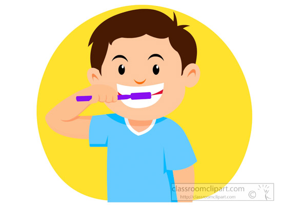 550x400 Clip Art Teeth Brushing