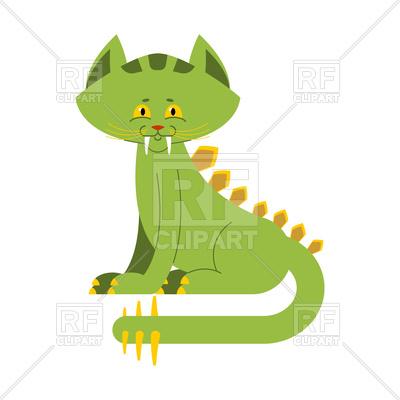 400x400 Prehistoric Cat Dinosaur Royalty Free Vector Clip Art Image
