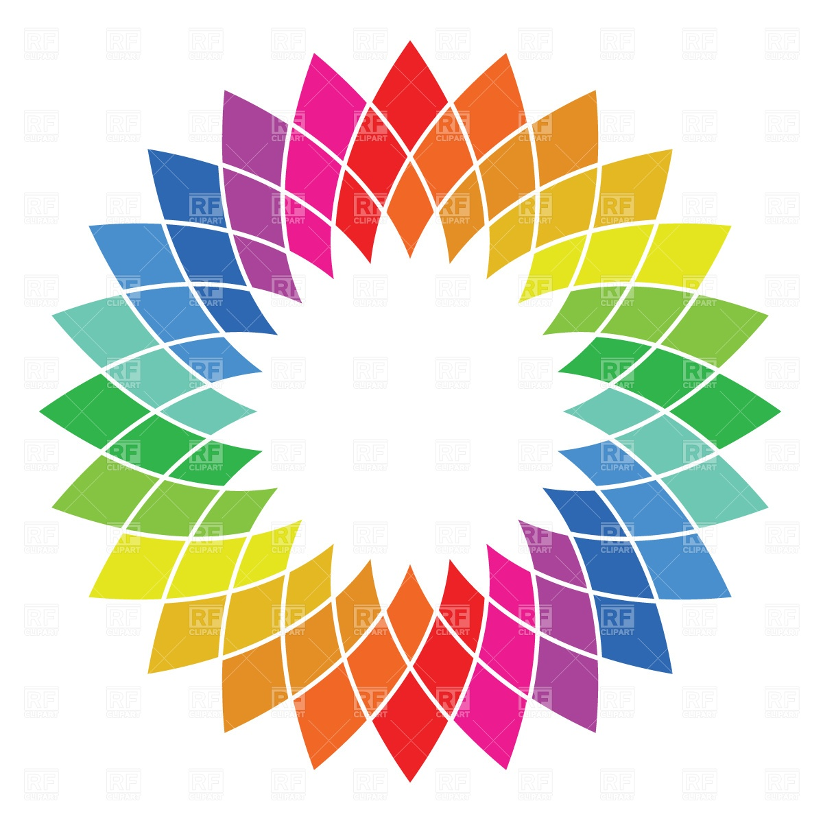 1200x1200 Rainbow Palette Wheel Free Download Vector Clip Art Image